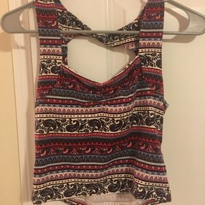 Forever21 floral crop top size M